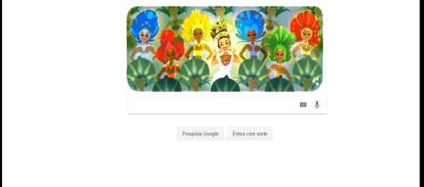 Doodle homenageia a inesquecível Carmem Miranda por seus 108 anos - (Fonte: https://www.google.com)