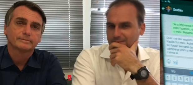Jair Bolsonaro dá bronca no filho e tudo vai parar na internet