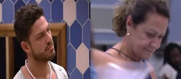 Luiz Felipe briga com Ieda por lugar de dormir (Foto: Reprodução/TV Globo)