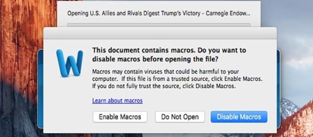 Novo vírus usa o Word para contaminar seu computador