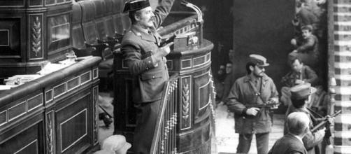 Tejero durante el golpe de estado. Public Domain