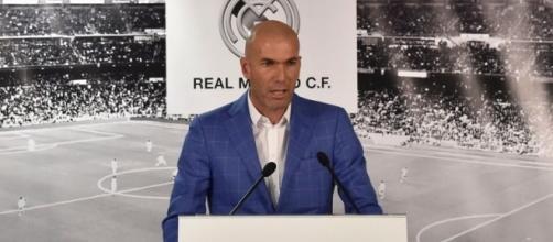 Zidane lors de son arrivée à la tête du Real Madrid