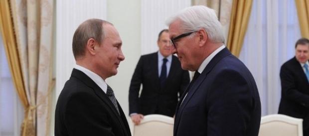 Der neue Bundespräsident Frank-Walter Steinmeier (re.) mit Vladimir Putin. (Foto: kremlin.ru / CC BY-SA 3.0)