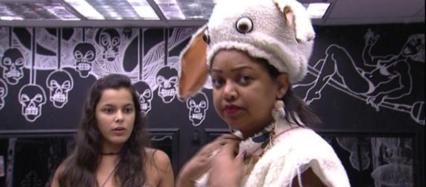 Emily selecionou Elis, Luiz Felipe e Marcos para castigo do monstro (Reprodução/TV Globo)