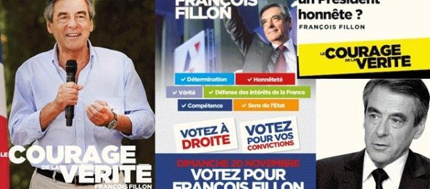 """""""Le courage de la vérité"""" fut le slogan de campagne d'Arnaud Montebourg et de son suppléant, J.L. Vernay, en Saône-&-Loire (6e cir.) en 1997."""