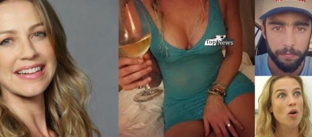 Luana Piovani se encontra de camisola com amigo do marido e fica brava