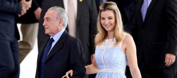 Marcela Temer, a primeira-dama brasileira, ao lado de Michel Temer