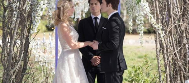 The Vampire Diaries Finally Gave Us the Steroline Wedding of Our ... - eonline.com