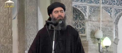 al Baghdadi in una immagine tipica della propaganda jihadista