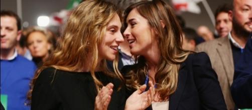 Da sinistra: il ministro della Funzione Pubblica, Marianna Madia e Maria Elena Boschi, sottosegretario alla presidenza del Consiglio.