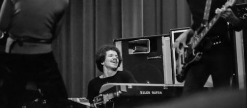 Keith Jarrett tocando con el grupo de Miles Davis