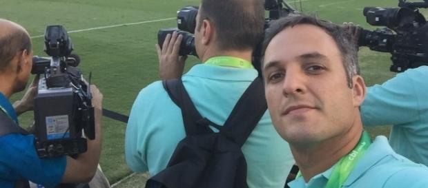 Leandro Stoliar e o colega Gilson Souza ficaram detidos na Venezuela (Foto: Reprodução/Twitter)