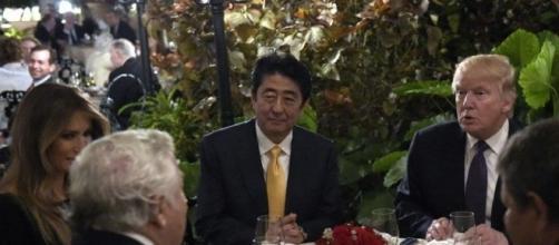 Donald Trump e il presidente del Giappone Shinzo Abe