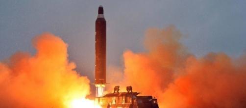 Il missile balistico nordcoreano, a medio raggio, Hwasong-10, meglio noto come Musudan