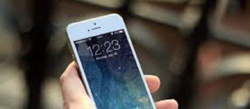 Smartphone durante l'uso dell'utente