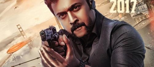Suriya from 'Singam 3' (Image credits: Twitter.com/bibinsudarsanan)
