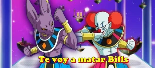 Dragon Ball Super La Batalla de los dioses Bills y payaso
