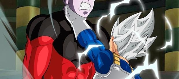 Dragon Ball Super Vegeta versus el guerrero del dios payaso