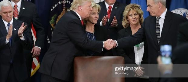 President Trump Speaks At The Department Of Homeland Security ... - gettyimages.com