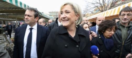 Marine Le Pen s'est rendue à Nice.