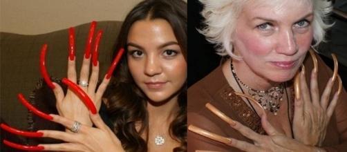 O tamanho das unhas dessas mulheres impressiona