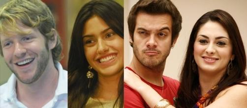 Relembre a trajetória amorosa de alguns casais dentro da casa ( Fotos: Rede Globo)