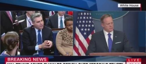Sean Spicer at daily briefing, via YouTube