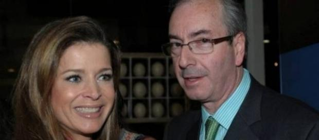 Cláudia Cruz e seu marido, Eduardo Cunha