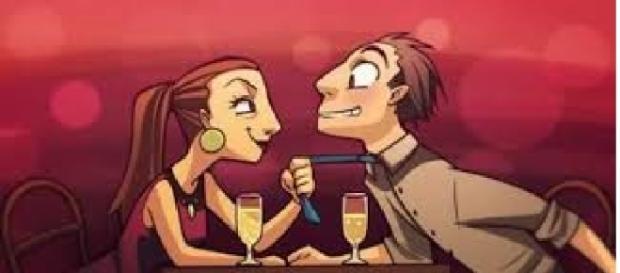 É comum a mulher ficar toda apaixonada no primeiro encontro ao perceber que o homem é como ela sempre imaginou.