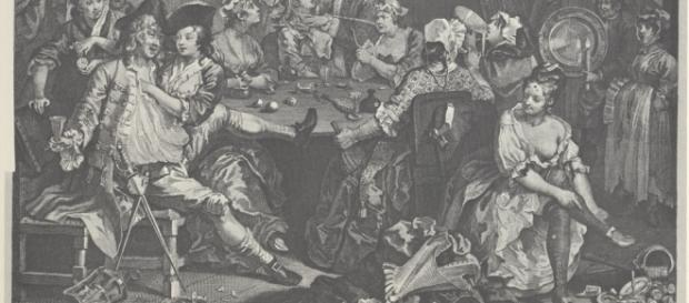 Hogarth A Rake's Progress, wikimedia commons, public domain