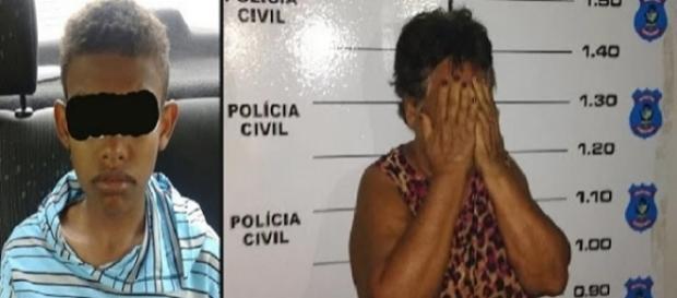 Mãe foi presa por bater no filho que roubou um celular (Foto: Reprodução)