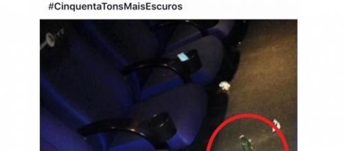 Foto de pepino em sala de cinema agita a internet