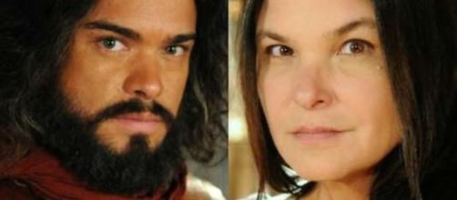 Josué e Mara na novela 'A Terra Prometida' (Divulgação/Record)