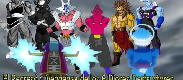 Dragon Ball Super El Regresó de los 6 Dioses Rebeldes de la Destrucción