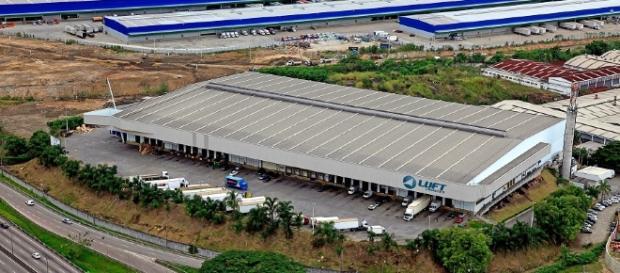 Imagem do polo logístico da Luft Healthcare, da Luft Logistics, no Rio de Janeiro (RJ)