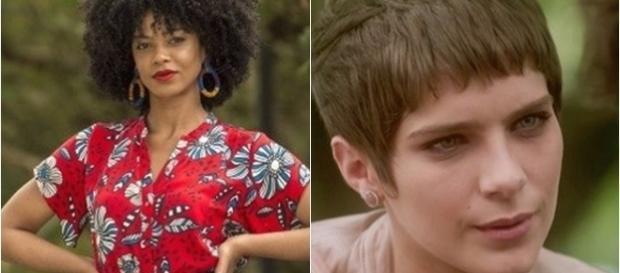 Imagem: Laura e Letícia na novela A Lei do Amor