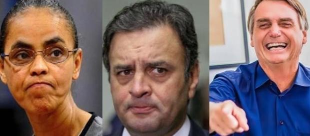 Marina Silva empata com Jair Bolsonaro nas pesquisas; Aécio Neves fica atrás dos dois