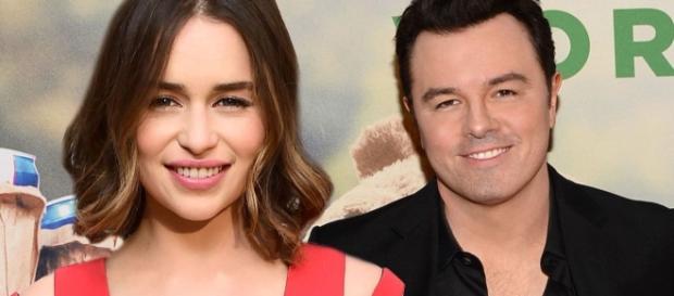 Os atores Emilia Clarke e Seth MacFarlane namoraram por seis meses