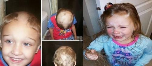 Crianças que cortaram sozinhas seus cabelos