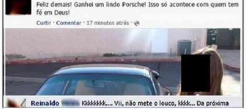 Garota é desmentida na internet (Foto: reprodução Facebook)