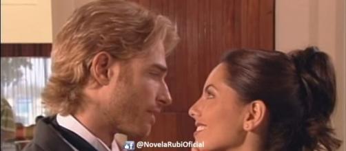 Heitor abandona Maribel e se casa com Rubi (Foto: Reprodução/Facebook/Novela Rubi)