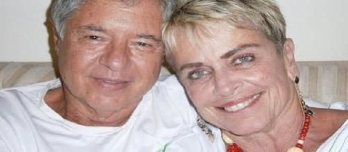 Jornalista Leila Cordeiro com o namorado Wilson Pariz