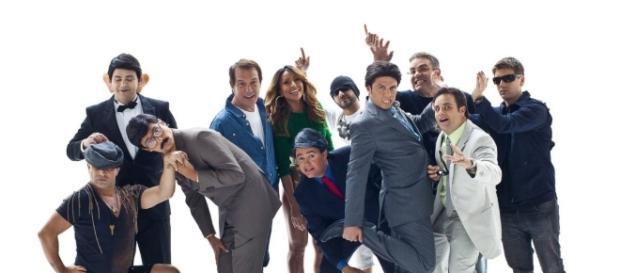 """Gui Santana, no centro, cabelo azul, deverá estrelar """"Os Trapalhões"""", como Zacarias"""