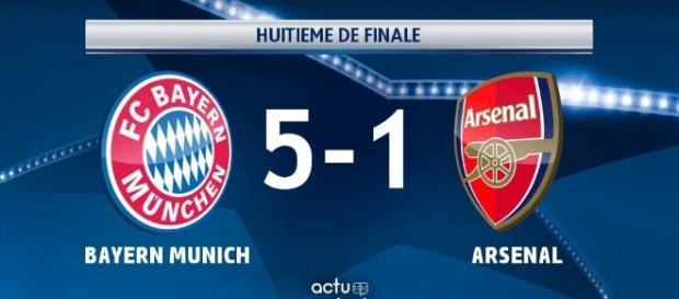 Le Bayern Munich écrase Arsenal ! (Image : scoopnest )