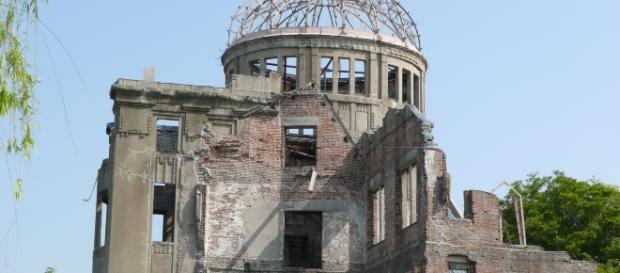 O Domo da Bomba, um dos poucos prédios que não foi completamente incendiado pela bomba atômica.