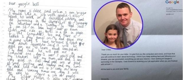 O fetița de șapte ani a cerut un loc de muncă la Google și a primit răspuns personal de la CEO-ul, Sundar Pichai - Foto: Andy Bridgewater