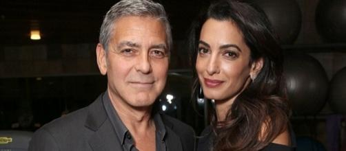 Amal and George Clooney's twins create a buzz online - celebrityinsider.org