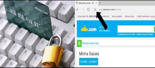 Compra segura no cartão (fonte: http://suporteninja.com/seguranca-on-line-dicas-para-fazer-compras-na-internet/)