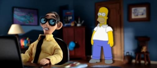 "Homer will meet a variety of stop-motion icons. (Credit to the ""Animation on Fox"" YouTube page)"