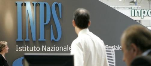 Il logo dell'Inps, l'Istituto Nazionale Previdenze Sociali.